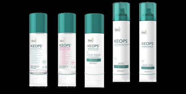 Keops desodorantes Sudoración excesiva
